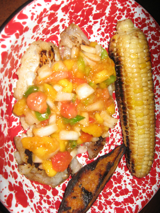 Grilled Grouper with Mango Salsa