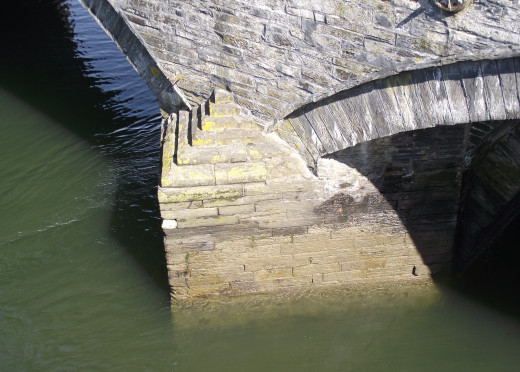 Footholds of the bridge