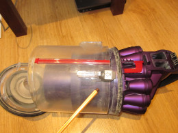 Dyson canister latch