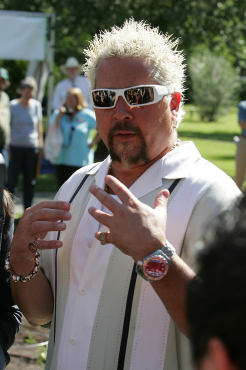 "Food Network Chef Guy Fieri at ""We Garden"" Event in Sacramento (Photo by: Kelly B. Huston)"