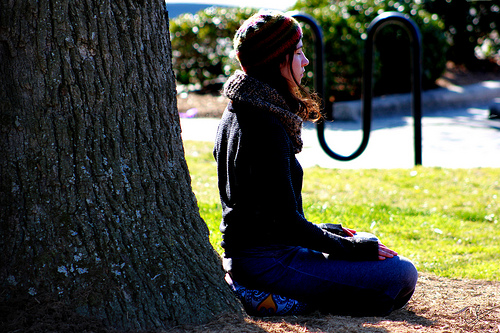 Meditation is a self-centering activity you can do most any time or anywhere.