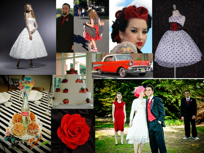 The rockabilly wedding is the perfect combination of style and fun.