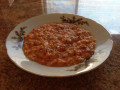Tomato Carrot Soup with Basmati Rice