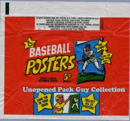 1968 Topps BB Posters Wrapper