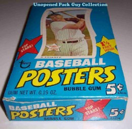 1968 Topps BB Posters Wax Box