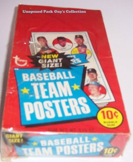 1969 Topps BB Team Posters Wax Box