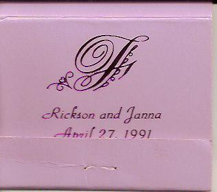 Matchbook from wedding
