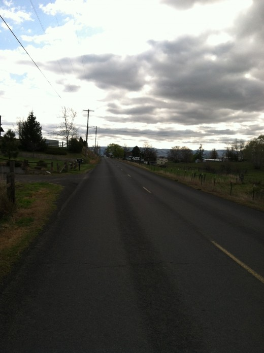 The Stateline Road--Washington on the Left (North) and Oregon on the Right (South)