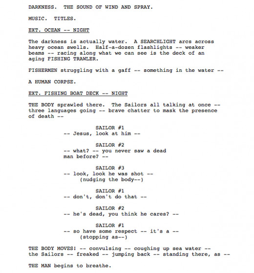 Writing action sequences screenplay competition
