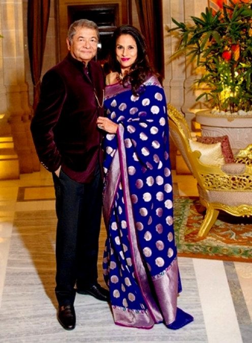 Shobhaa De with Husband Dilip
