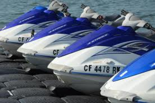 Jet Skis are very popular with kids and adults for recreational water fun. Always pay attention when driving one. These bad boys.