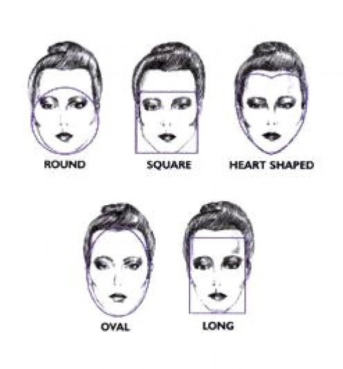 Different hairstyles look good with different face shapes