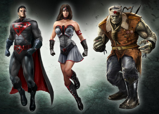 Red Son costumes (Superman, Wonder Woman, & Solomon Grundy; GameStop pre-order)