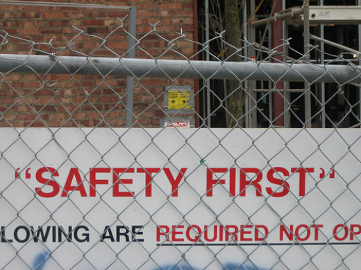 "One last comical quotation mark malfunction. ""Safety First"" like, we don't really mean it but have to say it or something."