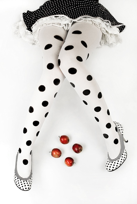 Dotted head to toe.