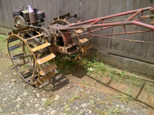 Motorized-hand plow.