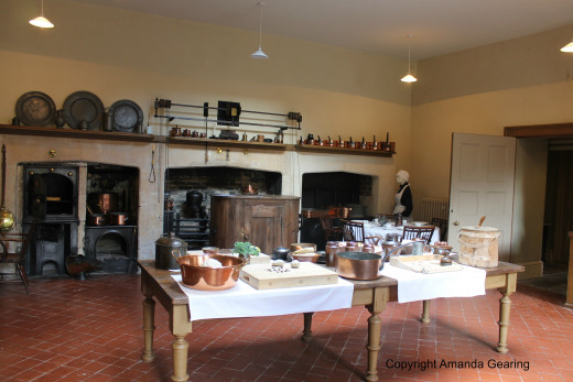 The kitchen, Dyrham Park, Bath, England.