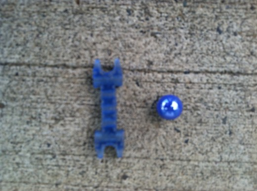 Blue LEGO Wrench & Blue Marble