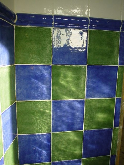 Don't forget to look after your tiles too, especially colourful bathroom tiles like these!