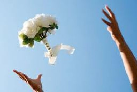 Throwing of the bridal boquet