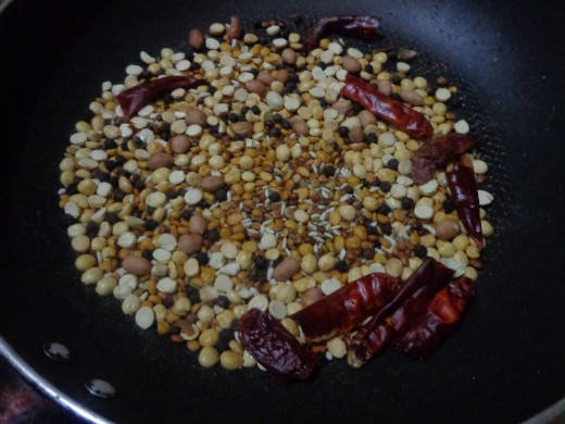Fry the ingredients till they become golden brown