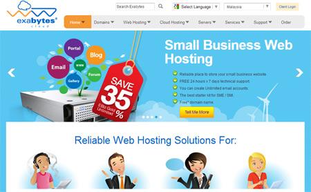 Exabytes - most popular web hosting company in Malaysia