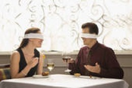 ordinary people wearing blindfolds to the outside  world around them