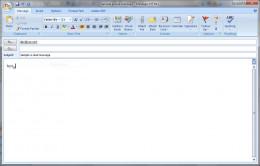 A screenshot of a sample e-mail.