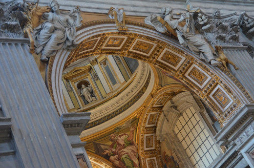 Inside St. Peter's Cathedral in Rome