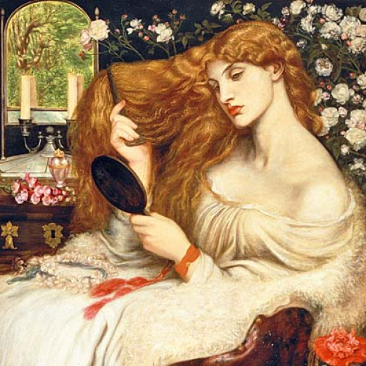 """Lady Lillith"" by Dante Gabriel Rossetti (1866-68)"