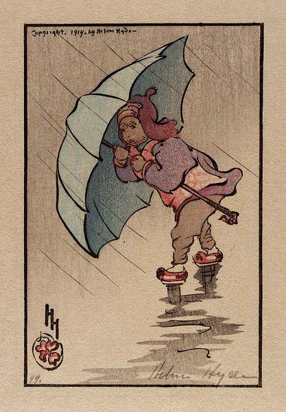 The blue umbrella 1914 - Helen Hyde