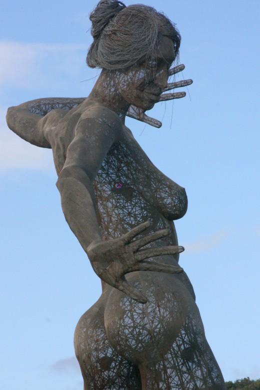 Bliss Dance, a 40-ft Sculpture on Treasure Island by Marco Cochrane