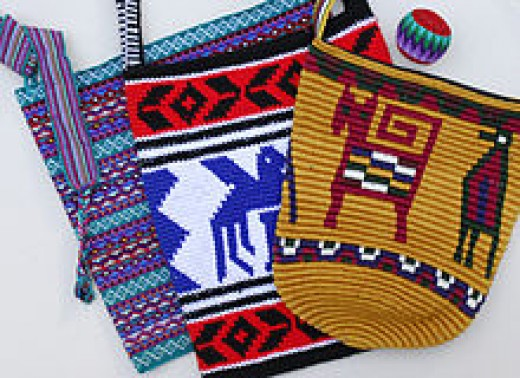 Tapestry Crochet Sacks from Guatemala