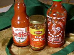 Add heat and spice from prepared chili sauce and other hot sauces.
