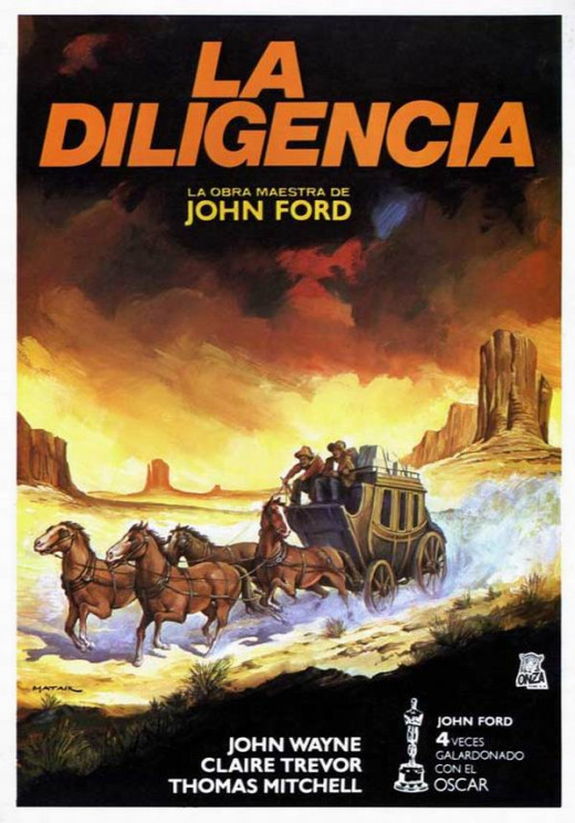 Stagecoach (1939) Spanish poster