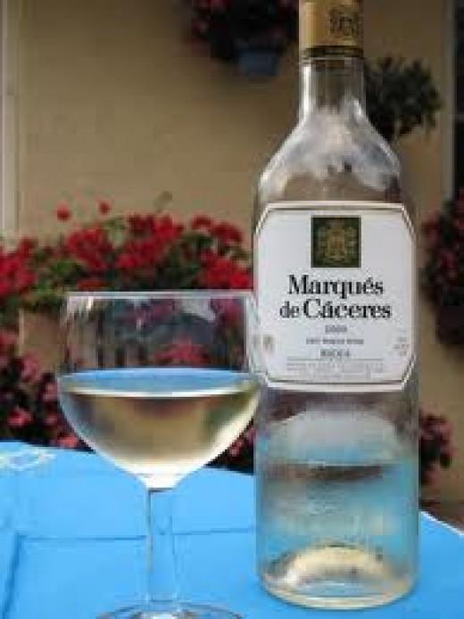Rioja white wine.