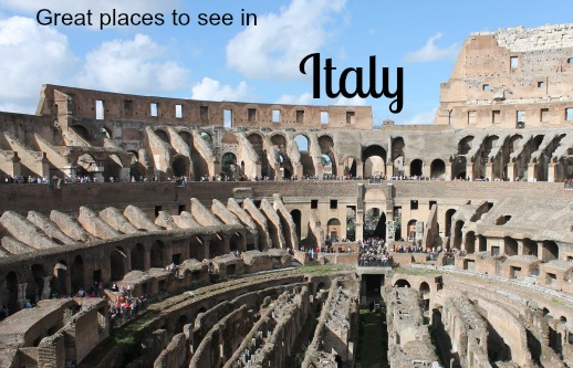 Great places to see in Italy.