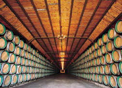 Spanish Rioja wine is  aged in oak barrels and vats.