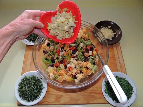 add artichoke hearts