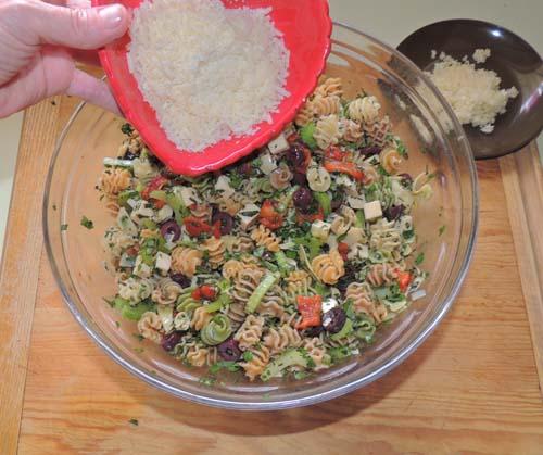 add shredded parmesan