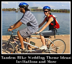 Tandem Bike Wedding Theme Ideas: Invitations and More