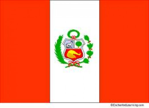 The flag of Peru