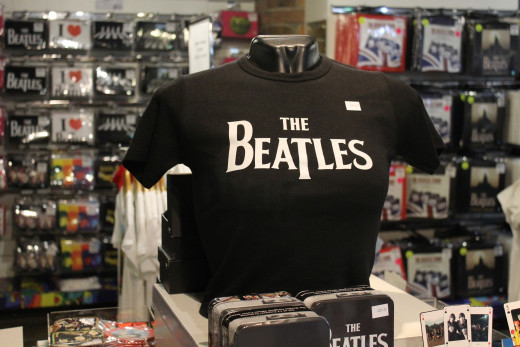 Souvenir T-shirt at The Beatles Story, Liverpool.