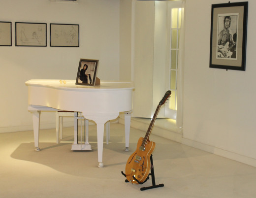 John Lennon's white Grand Piano used in Imagine.