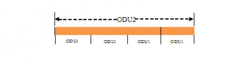 ODTU12 with ODU1 tributary slots