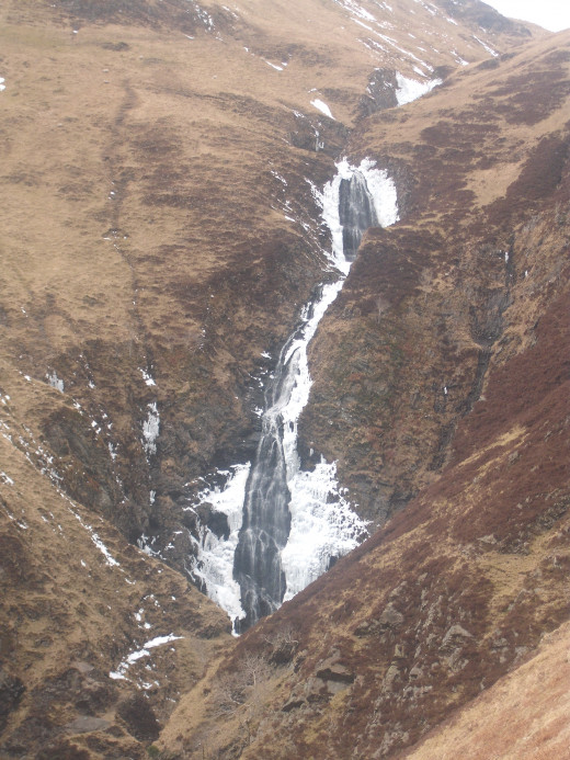 The stunning 60 metre waterfall of Grey Mare's Tail