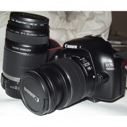 Canon 1100D / Rebel T3 Camera with two kit lenses