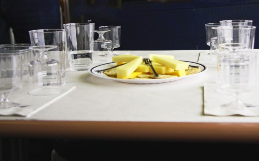 Our tables were prepared with care.  Look at that delicious cheese!