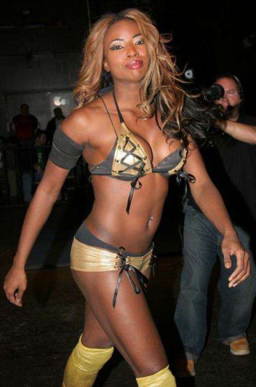 Rhaka Khan (Trenesha Biggers) former TNA Knockout