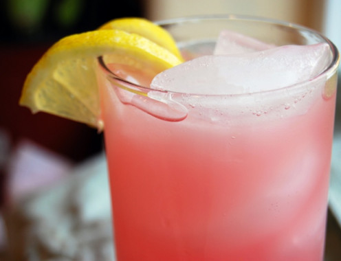 Rhubarb Lemonade Spritzer (Serving Suggestion)